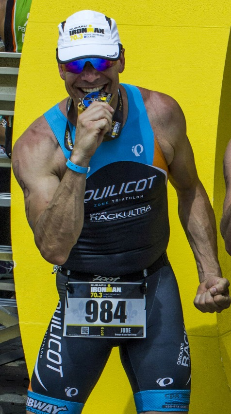 Jude Gagnon,  entraîneur pour ZEUS Triathlon à Laval